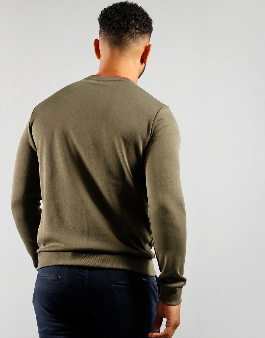 BOSS Athleisure Salbo Sweatshirt Dark Green