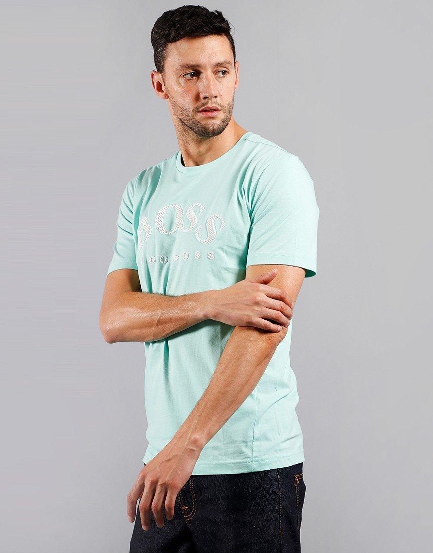 BOSS Tee 5  T-Shirt Open Green