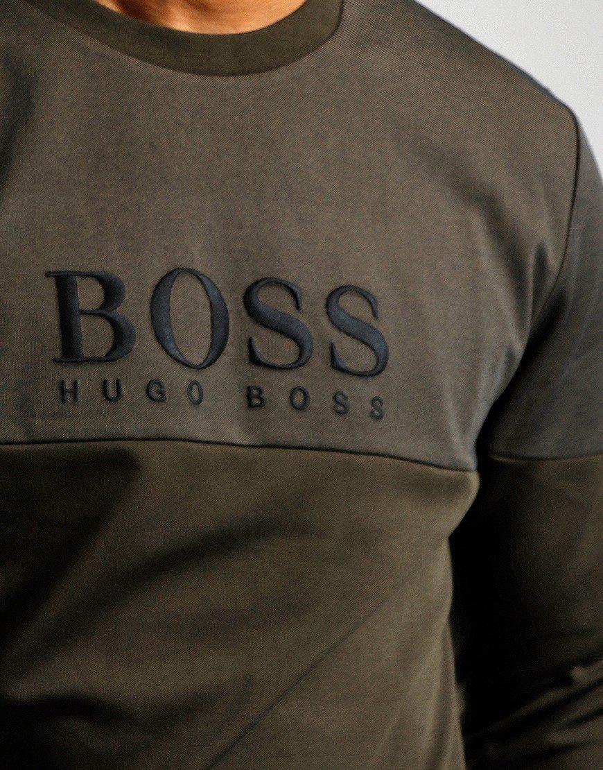 BOSS Bodywear Tracksuit Sweat Open Green