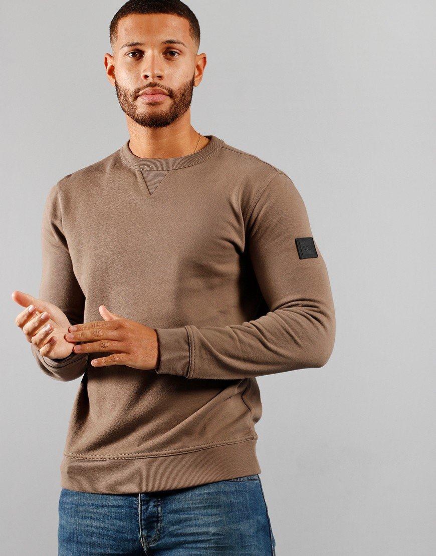 BOSS Casualwear Walkup 1 Sweat Beige/Khaki