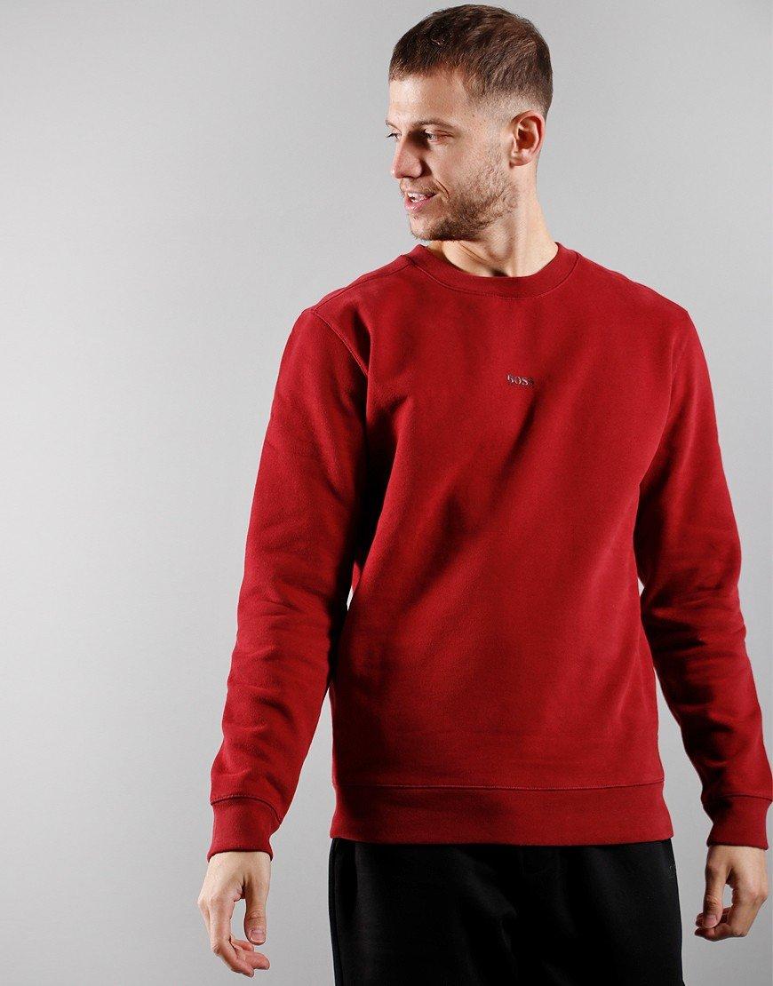 BOSS Weevo Sweatshirt Dark Red