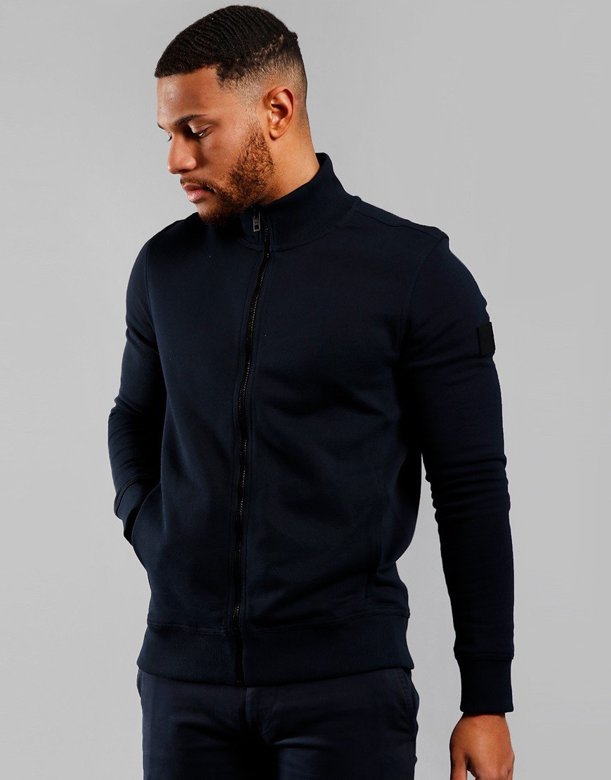 BOSS Zkybox 1 Zip Sweat Dark Blue