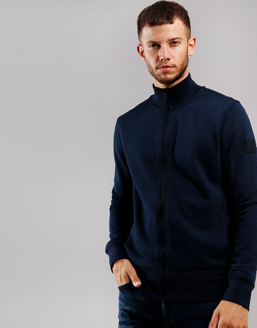 BOSS Zkybox Zip Sweat Dark Blue
