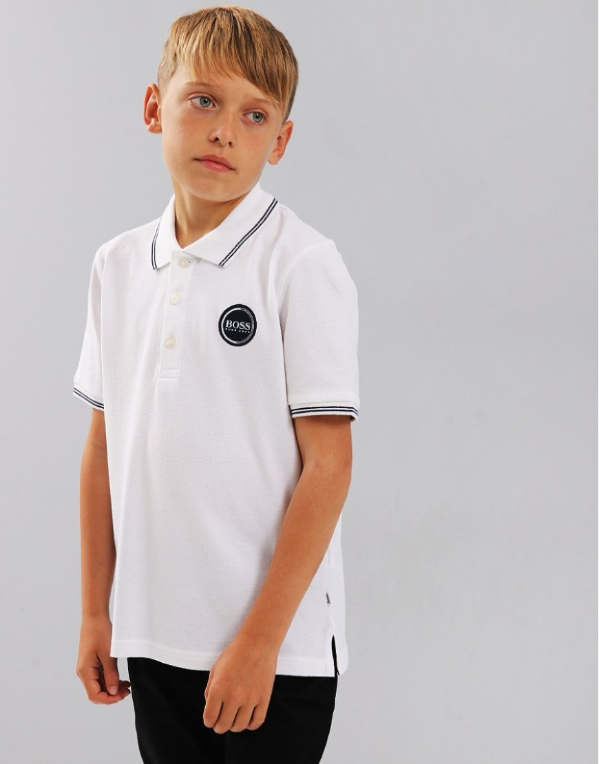 BOSS Kids Polo Shirt White