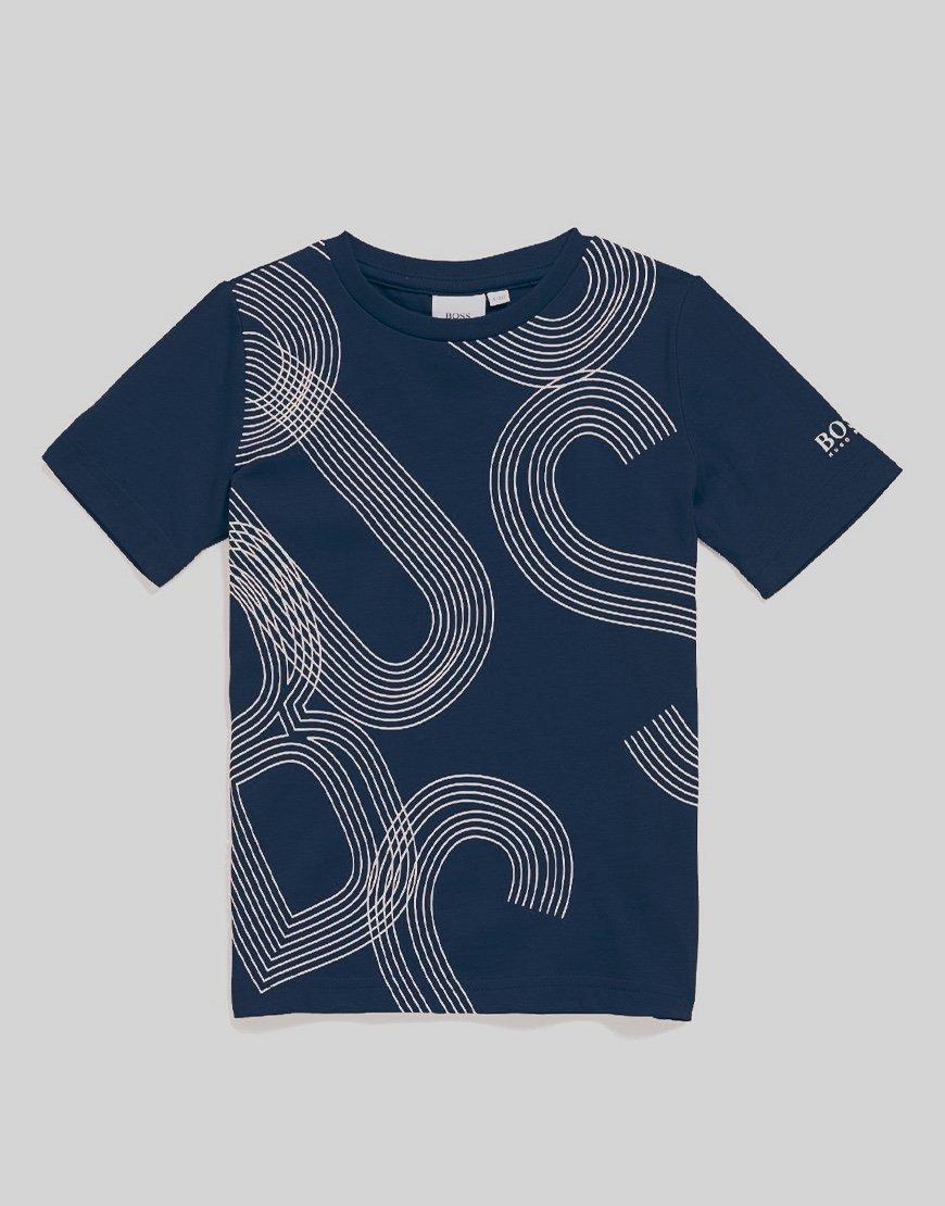BOSS Kids Graphic T-Shirt Navy