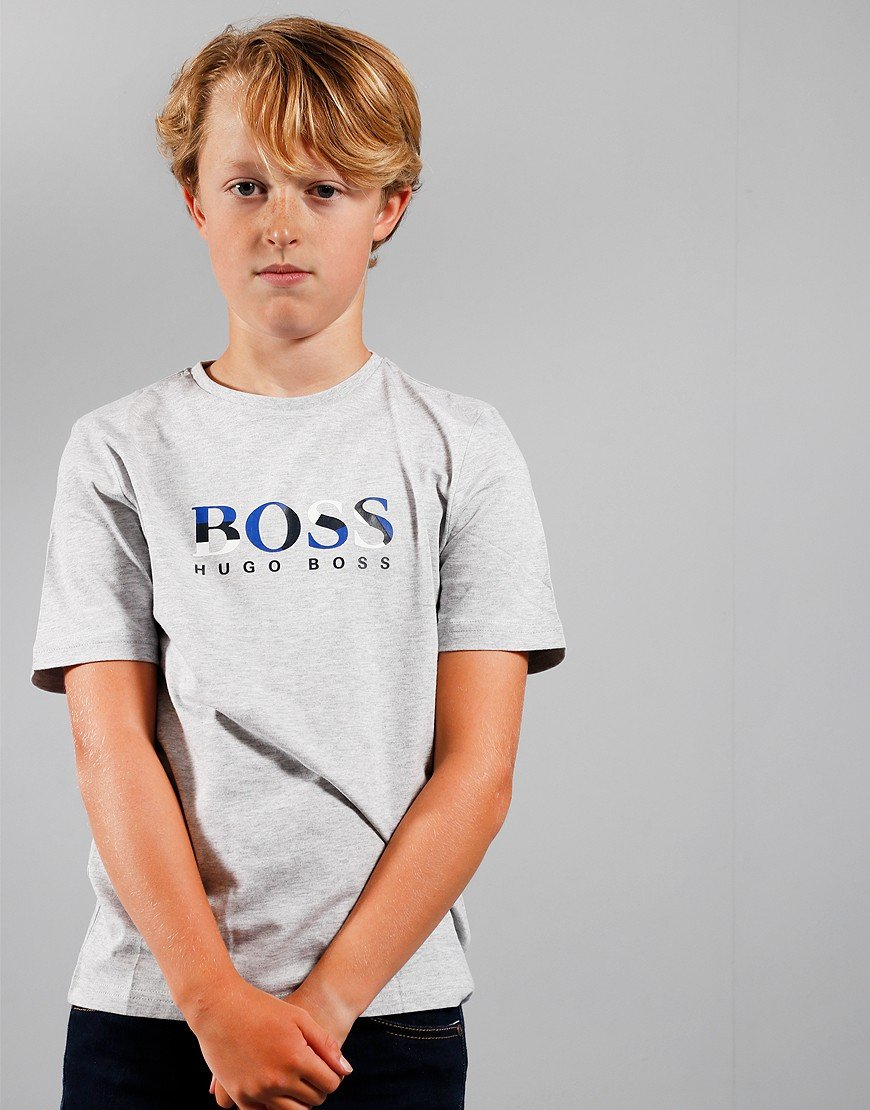 BOSS Kids Logo T-Shirt Chine Grey