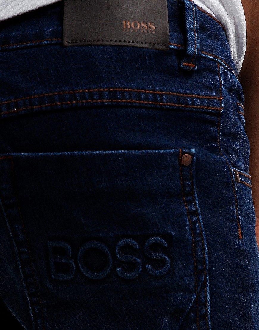 BOSS Kids Embossed Logo Jeans Rinse Wash Brush