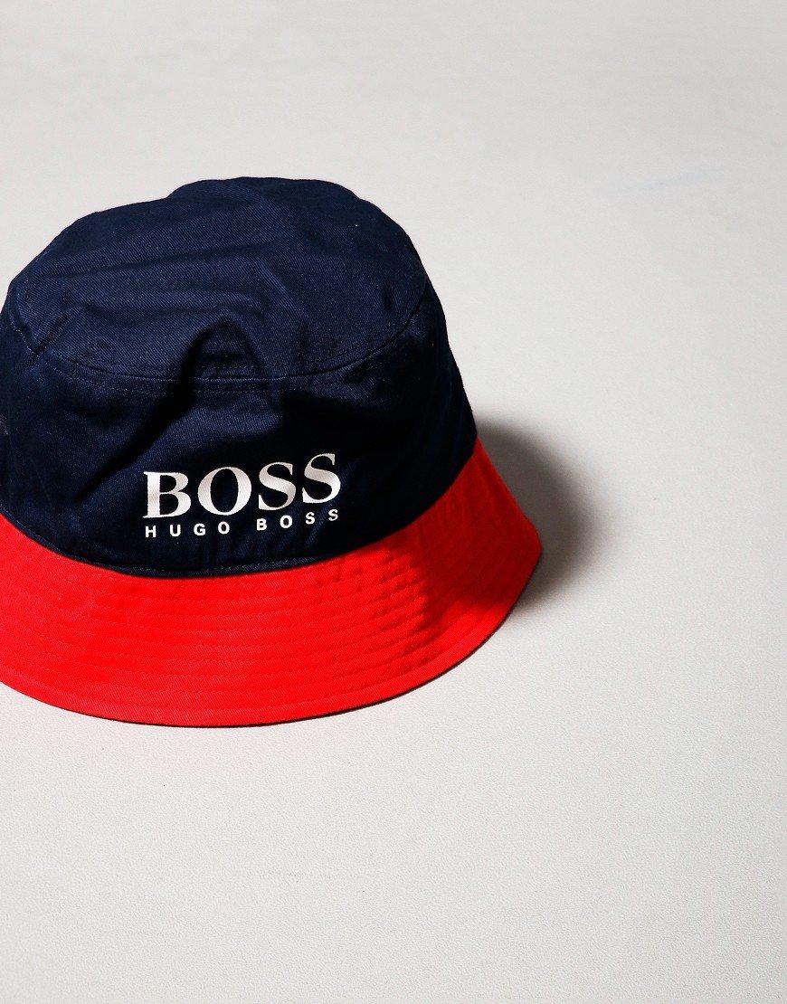 BOSS Kids Bucket Hat Navy