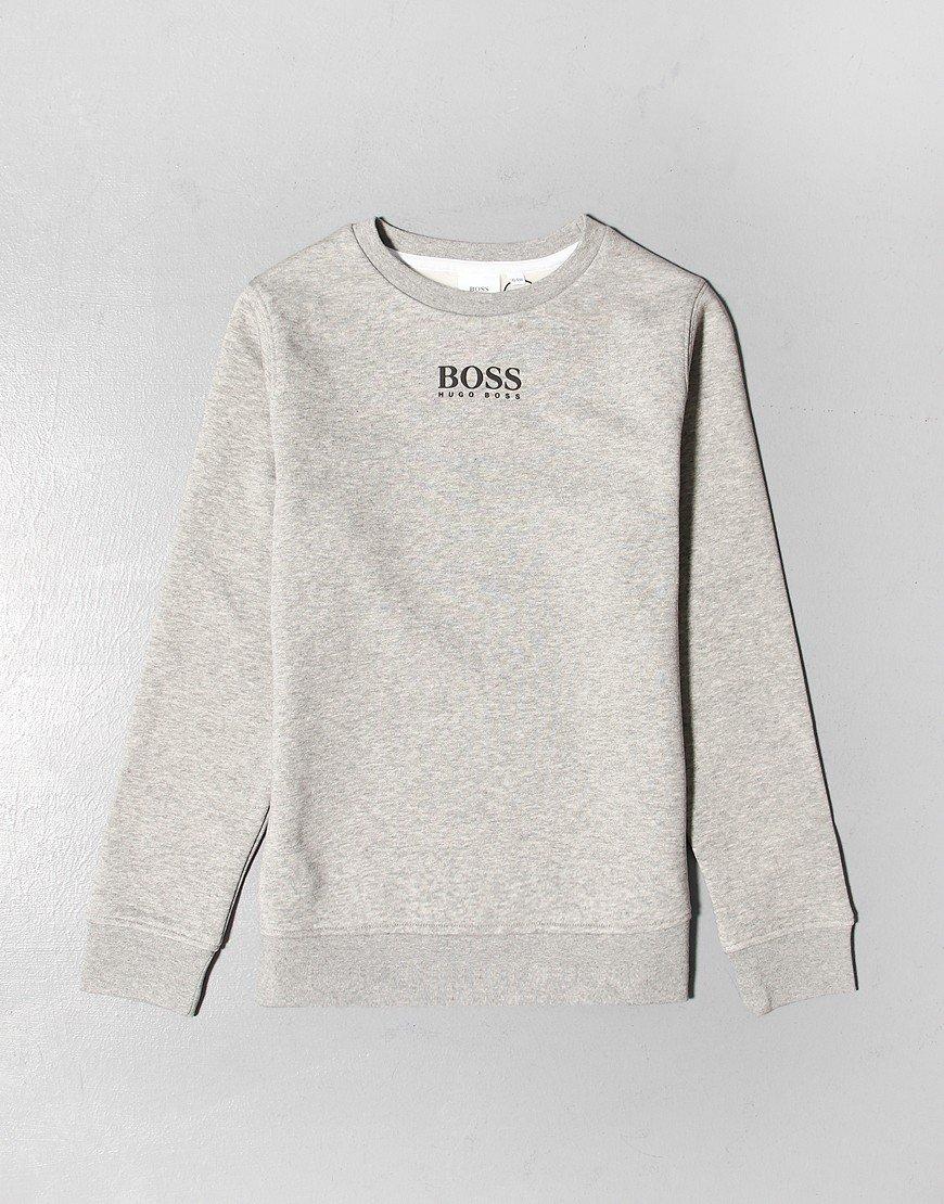 BOSS Kids Chest Logo Sweat Grey Marl