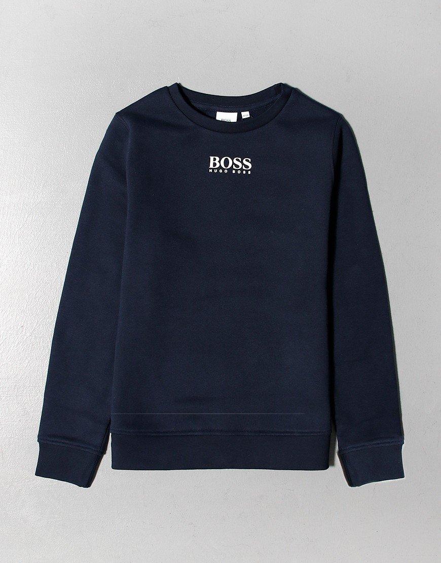 BOSS Kids Chest Logo Sweat Navy