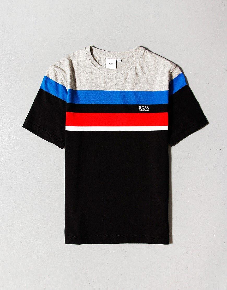 BOSS Kids Colour Block T-Shirt Black