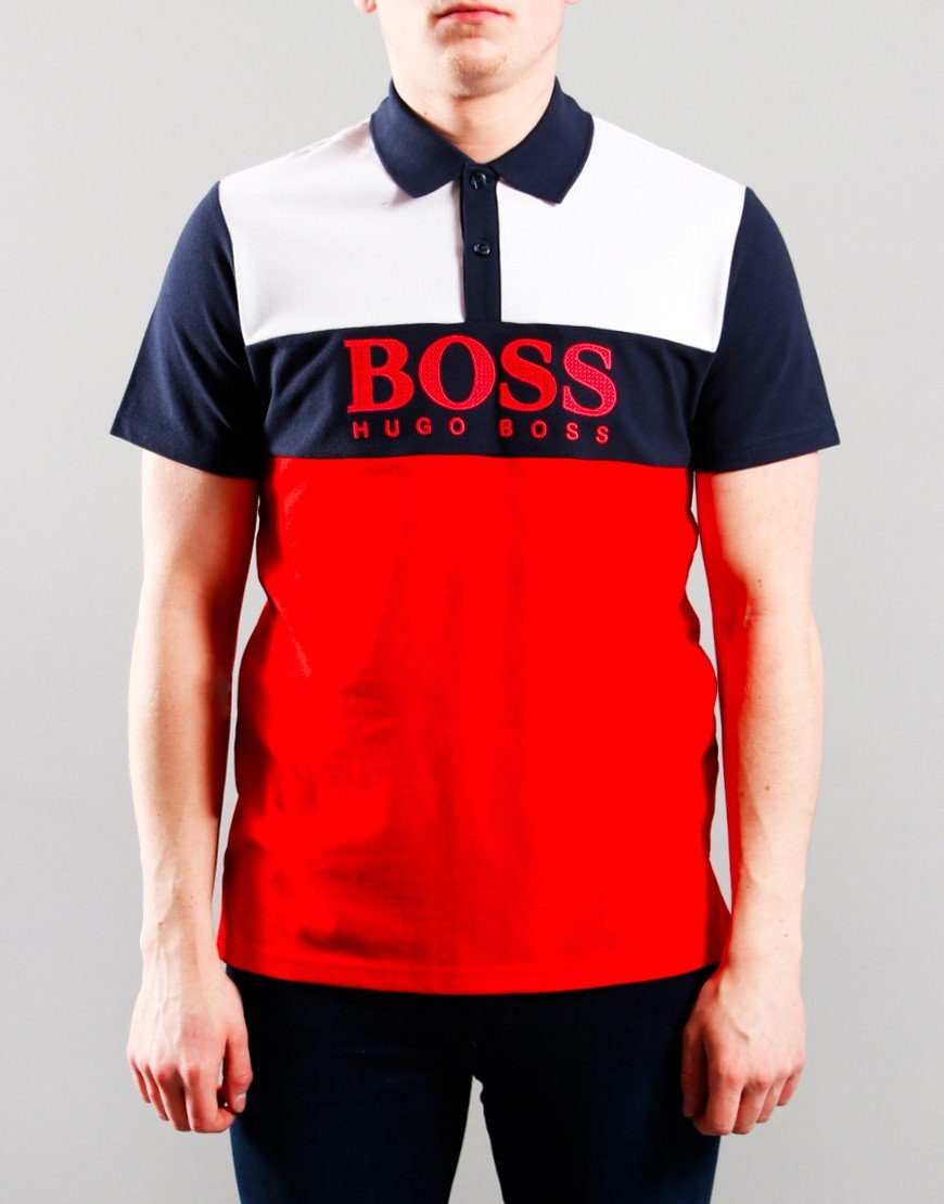 BOSS Kids Colour Block Polo Shirt Unique