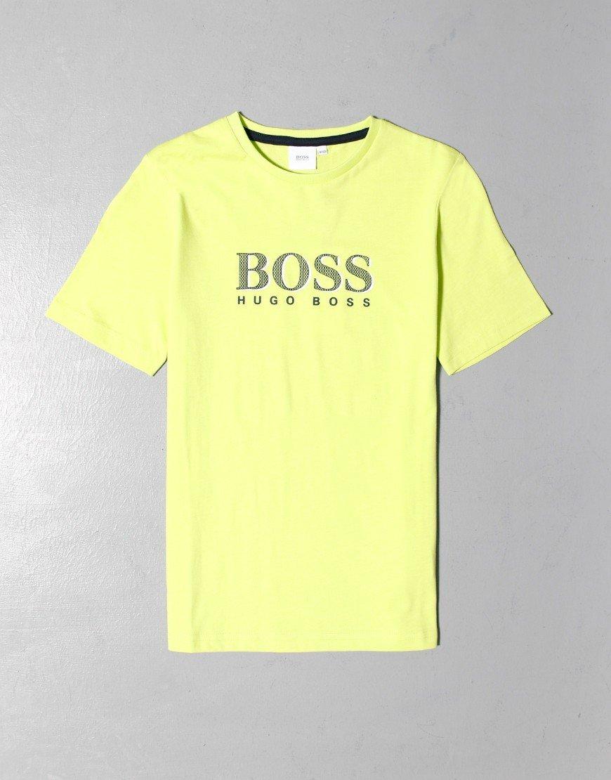 BOSS Kids Print T-Shirt Green Lemon