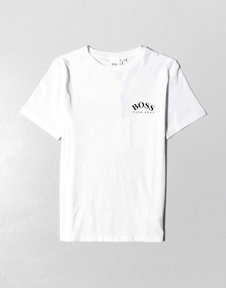 BOSS Kids Small Logo Curve T-Shirt White
