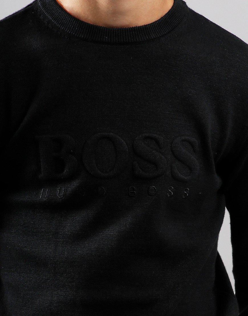 BOSS Kids Embossed Cotton Sweat Black