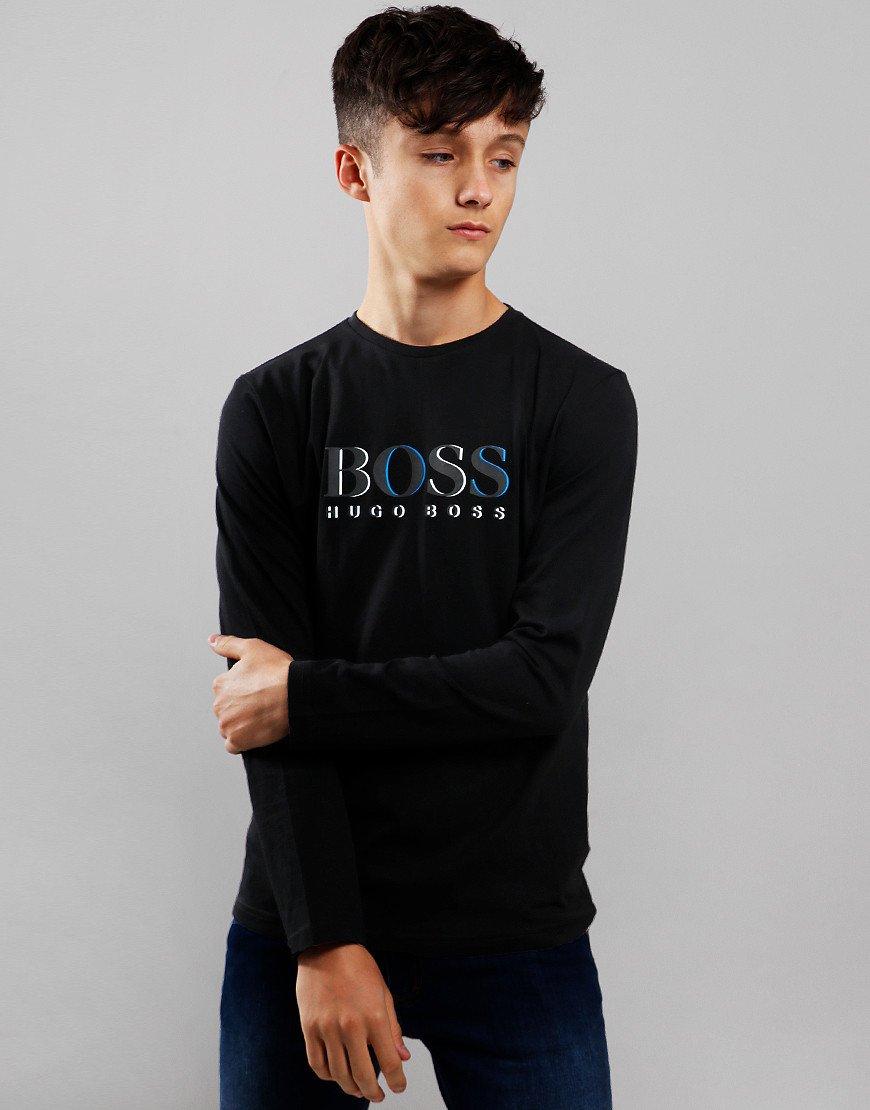 BOSS Kids Logo Long Sleeve T-Shirt Black