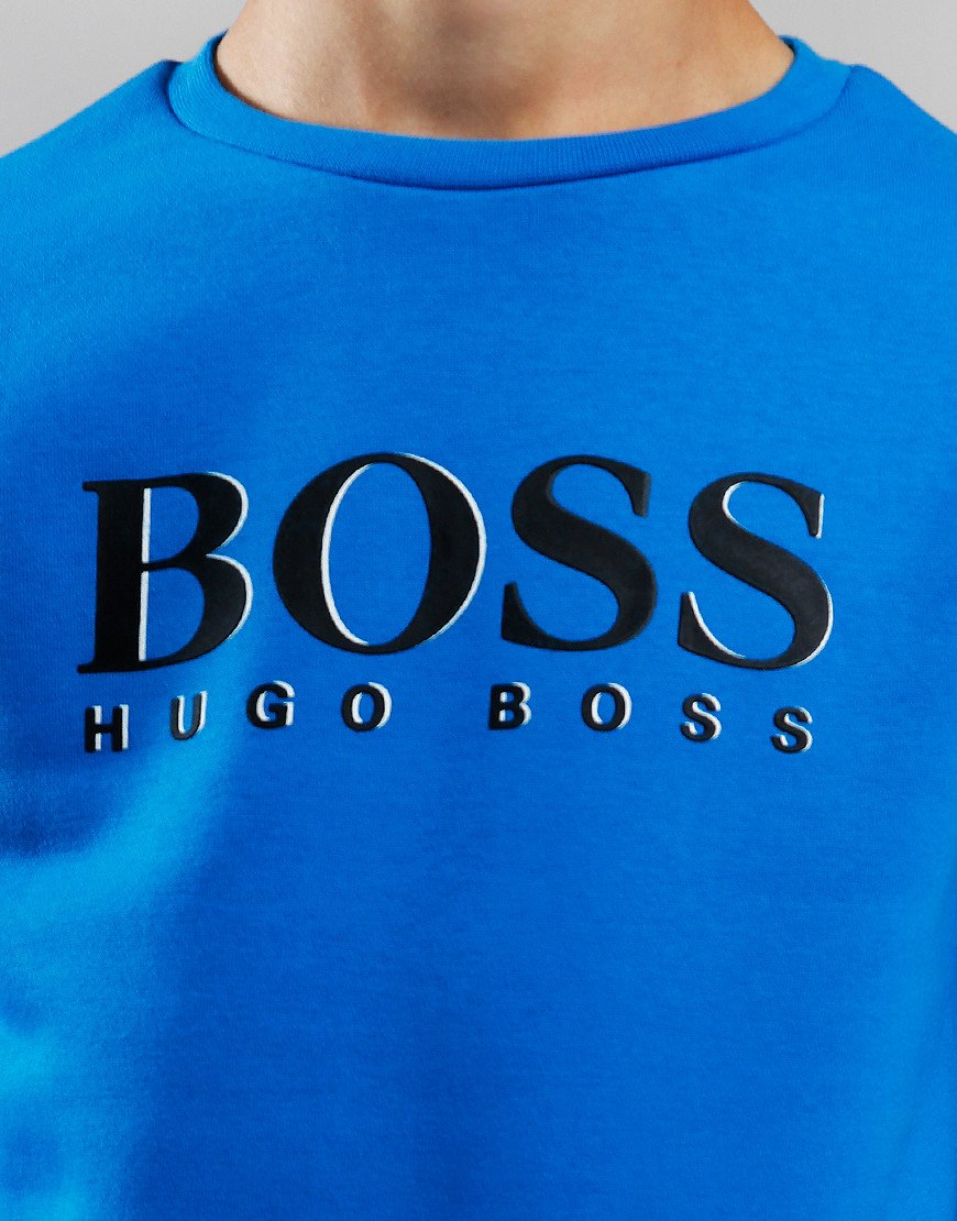 BOSS Kids Logo Crew Sweat Electric Blue