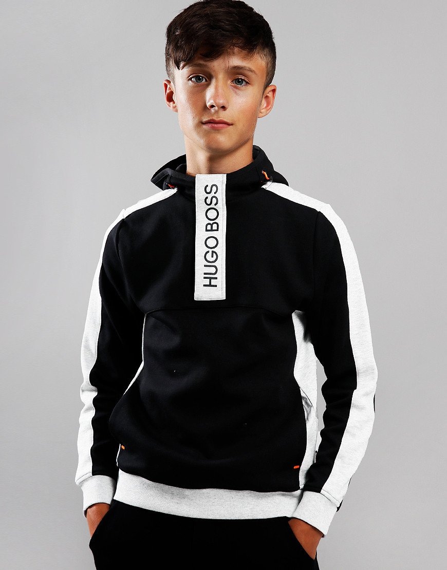 BOSS Kids Logo Hooded Sweat Black