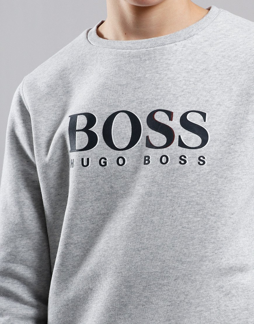 BOSS Kids Logo Crew Sweat Light Grey Marl