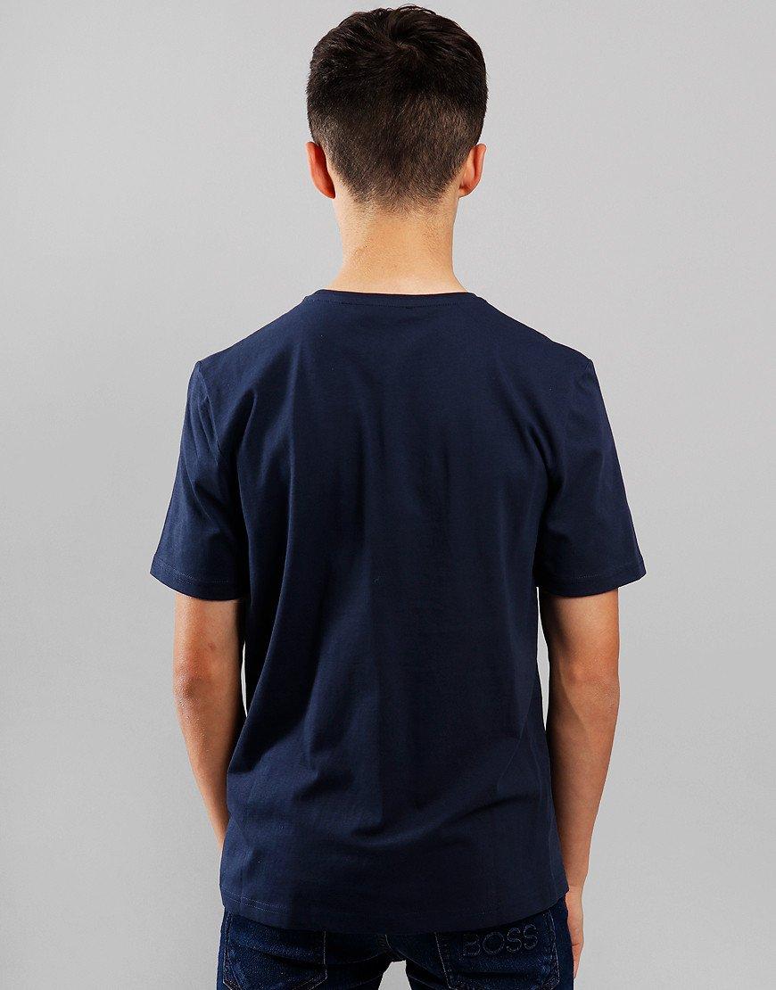 BOSS Kids Print T-Shirt Navy