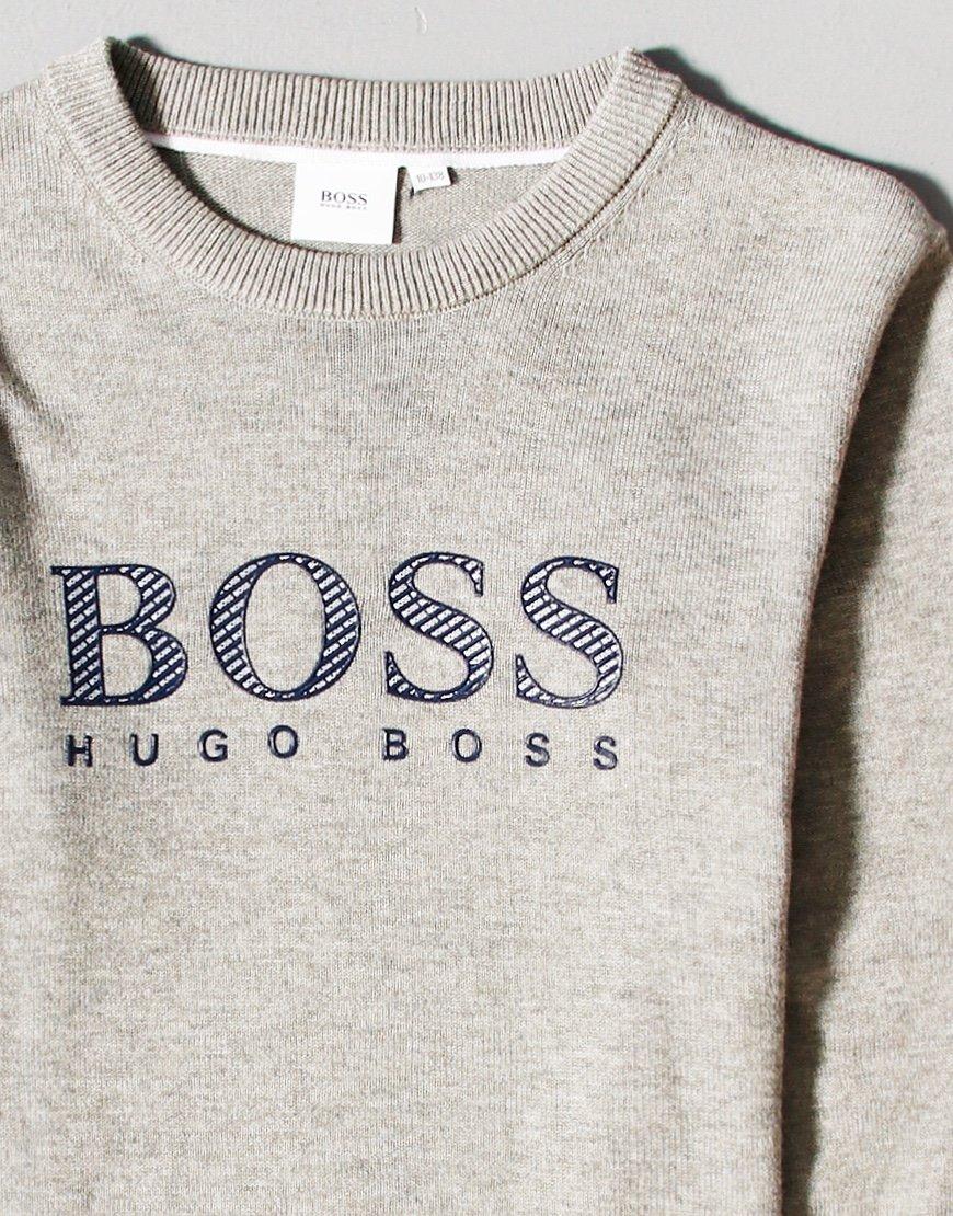 BOSS Kids Large Logo Sweat Grey