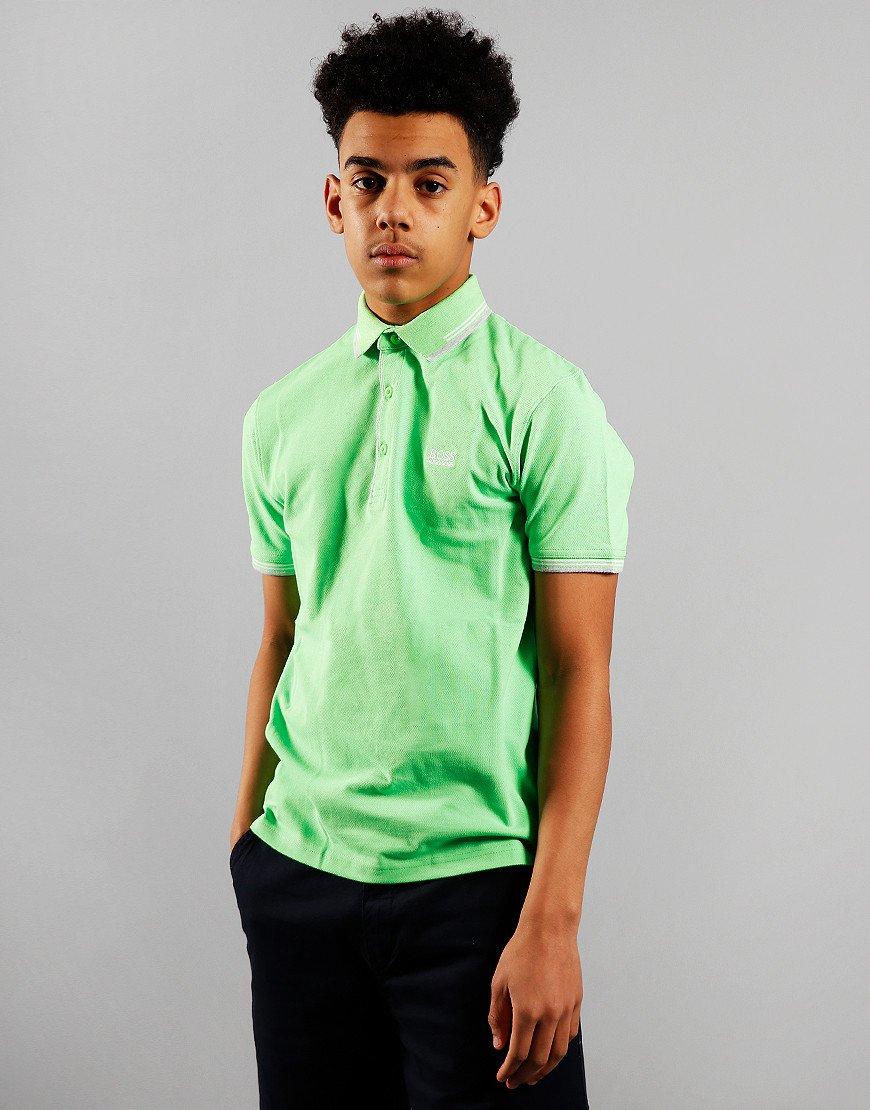 BOSS Kids Tipped Polo Shirt Sea Green