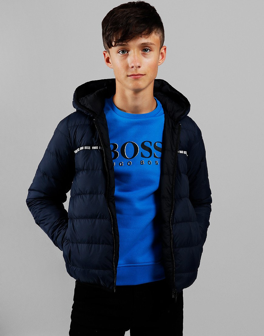 BOSS Kids Puffer Jacket Navy/Black