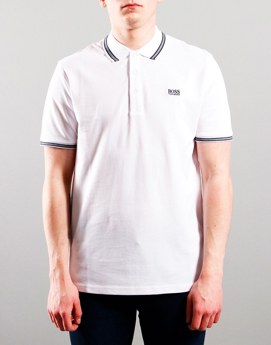 BOSS Kids Cotton Pique Polo Shirt White