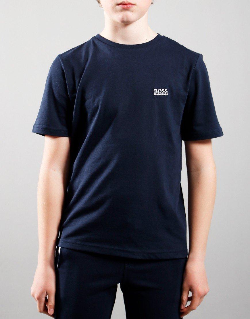 BOSS Kids Small Logo T-Shirt Navy