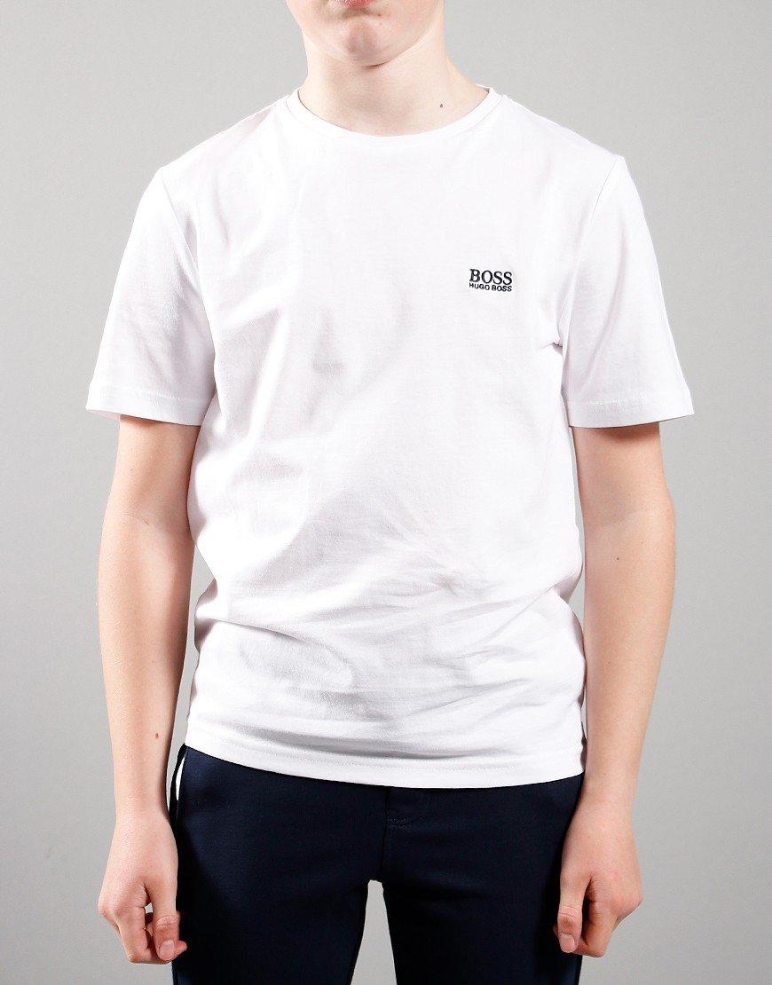 BOSS Kids Small Logo T-Shirt White