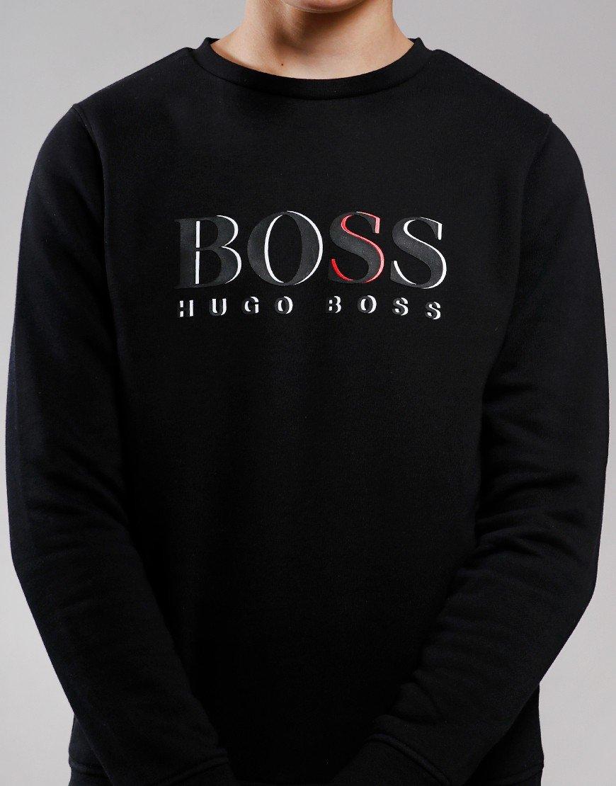 BOSS Kids Logo Crew Sweat Black