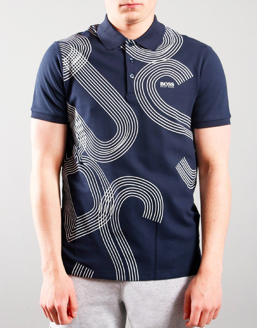 BOSS Kids Graphic Polo Navy Navy