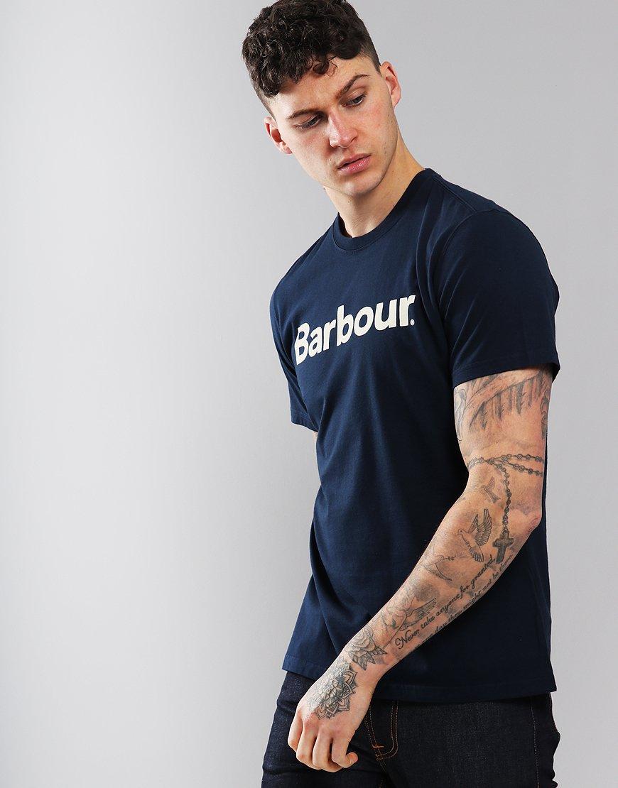 Barbour Logo T-Shirt New Navy