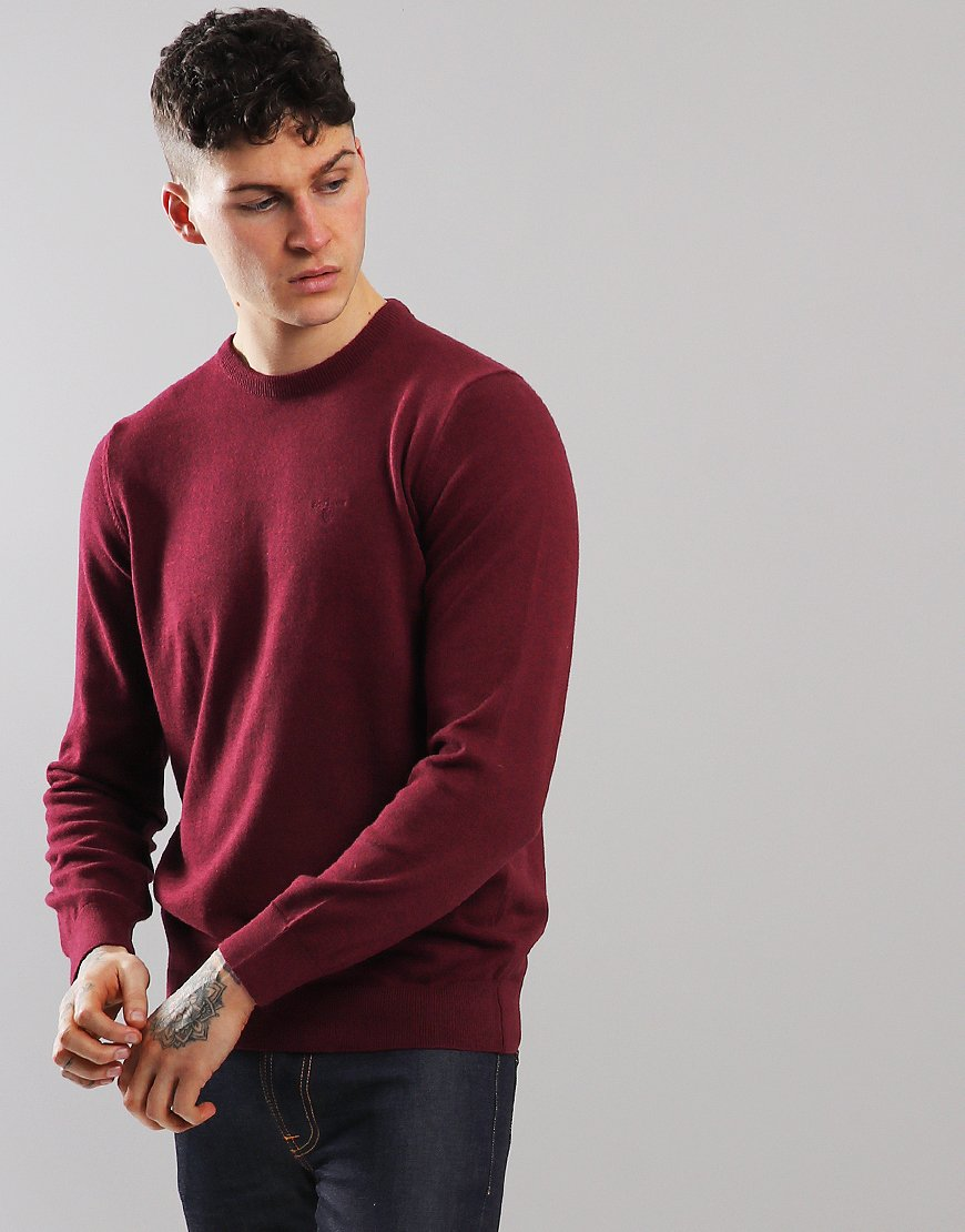 Barbour Pima Cotton Crew Neck Knit Ruby Marl