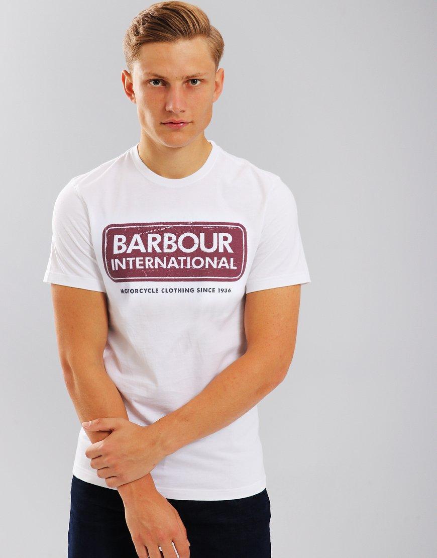 Barbour International Logo T-shirt White
