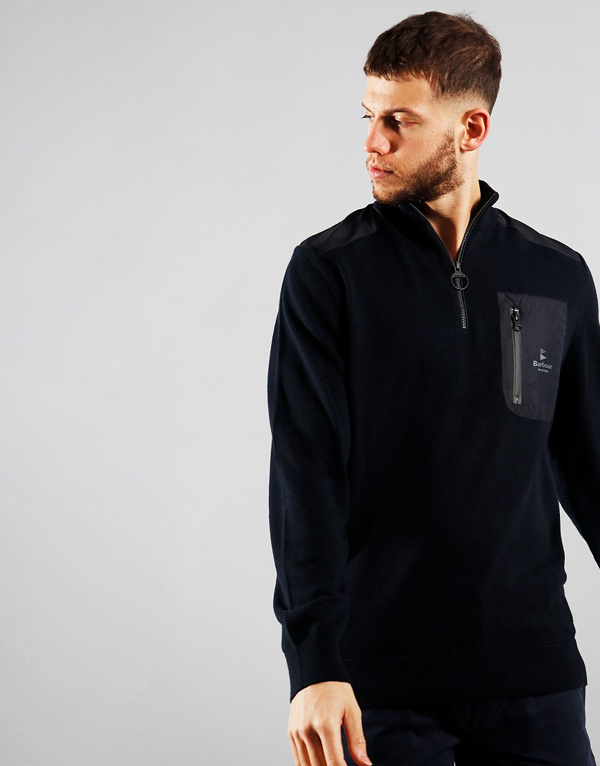 Barbour Almarine Half Zip Knit Navy