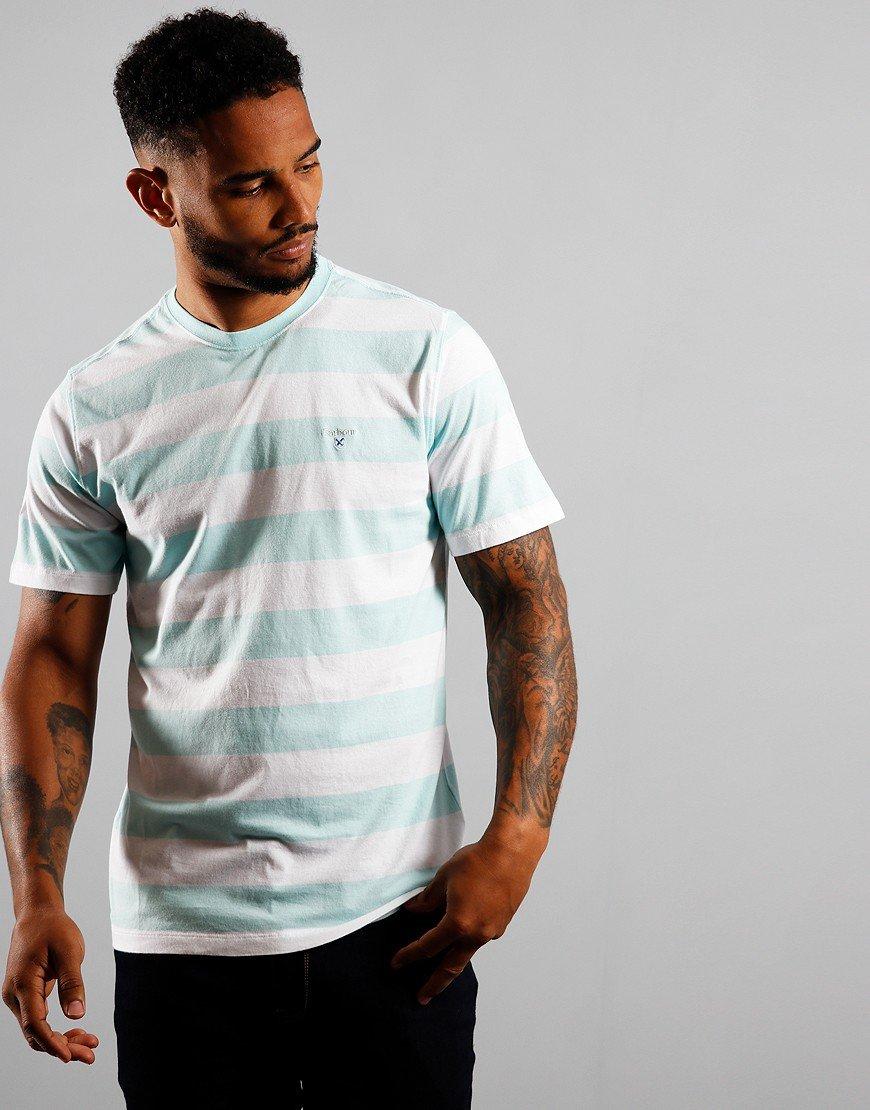 Barbour Beach Stripe T-Shirt Aqua Marine