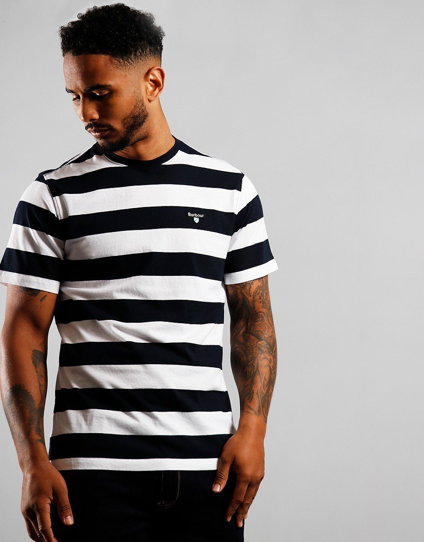 Barbour Beach Stripe T-Shirt Navy