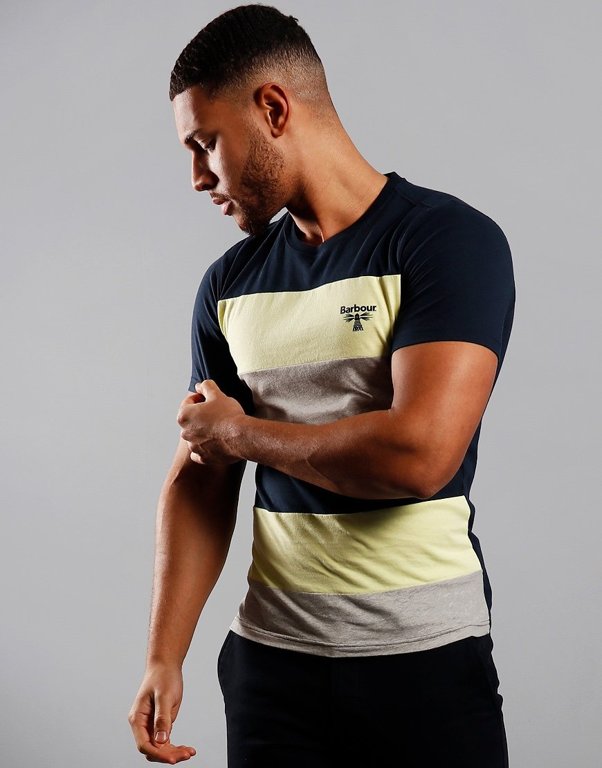 Barbour Beacon Aller Stripe T-Shirt Navy