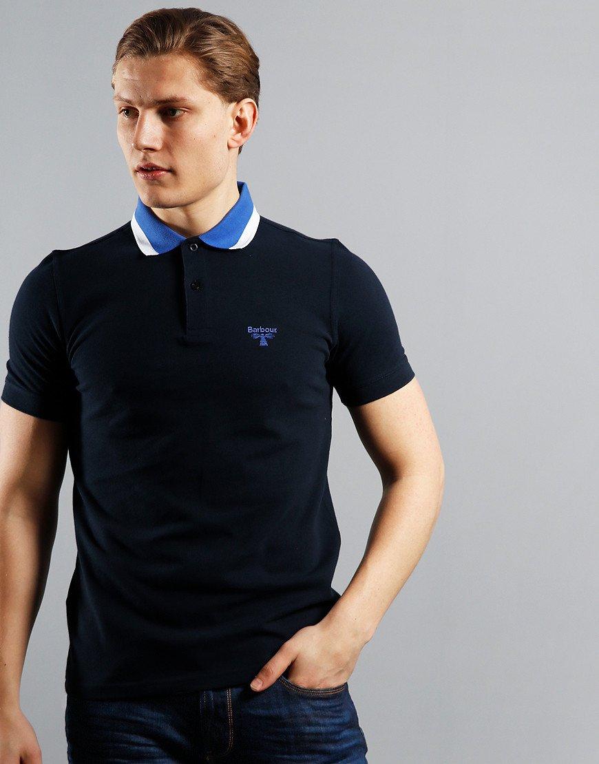 Barbour Beacon Alston Tipped Polo Shirt Navy