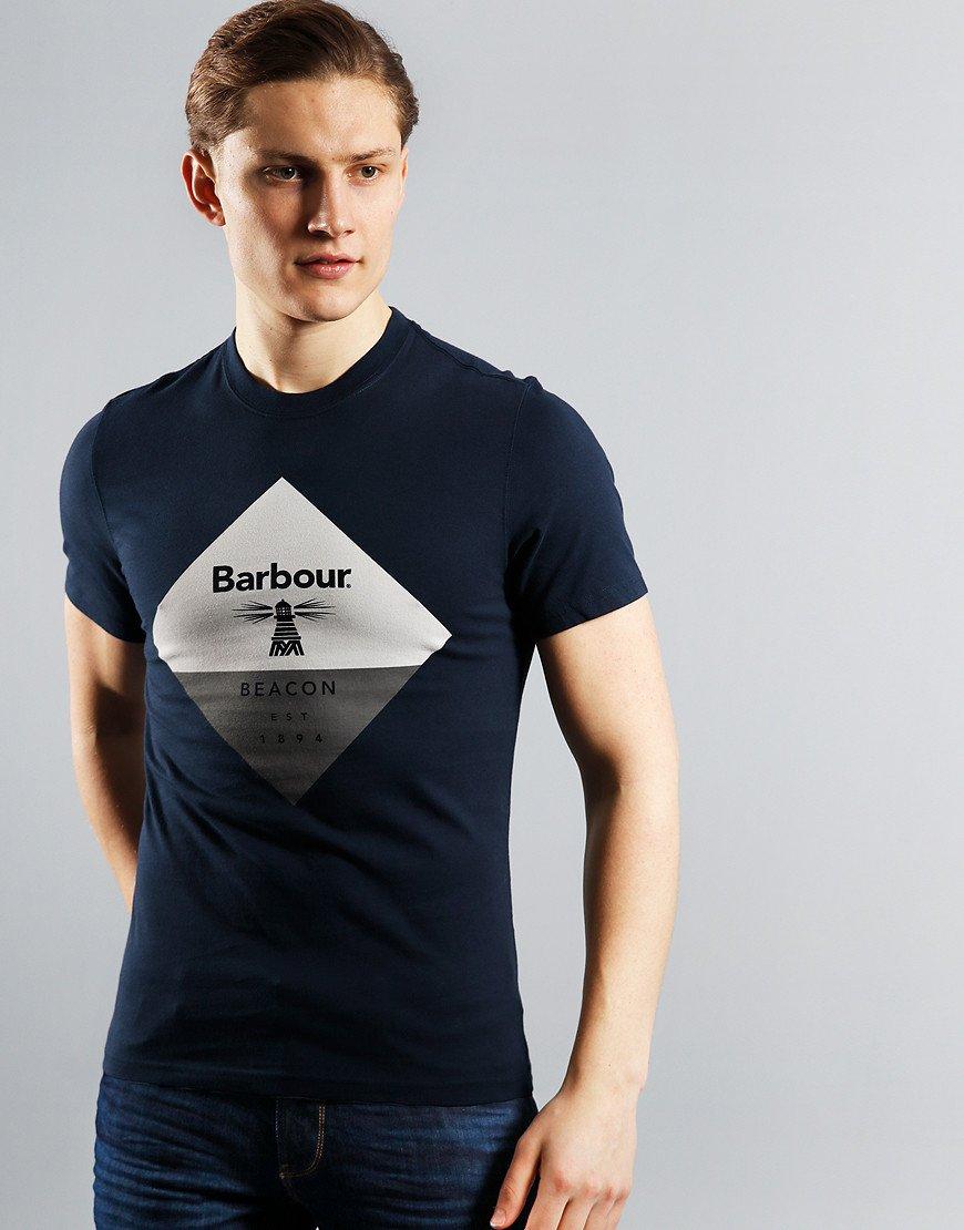 Barbour Beacon Diamond T-Shirt Navy