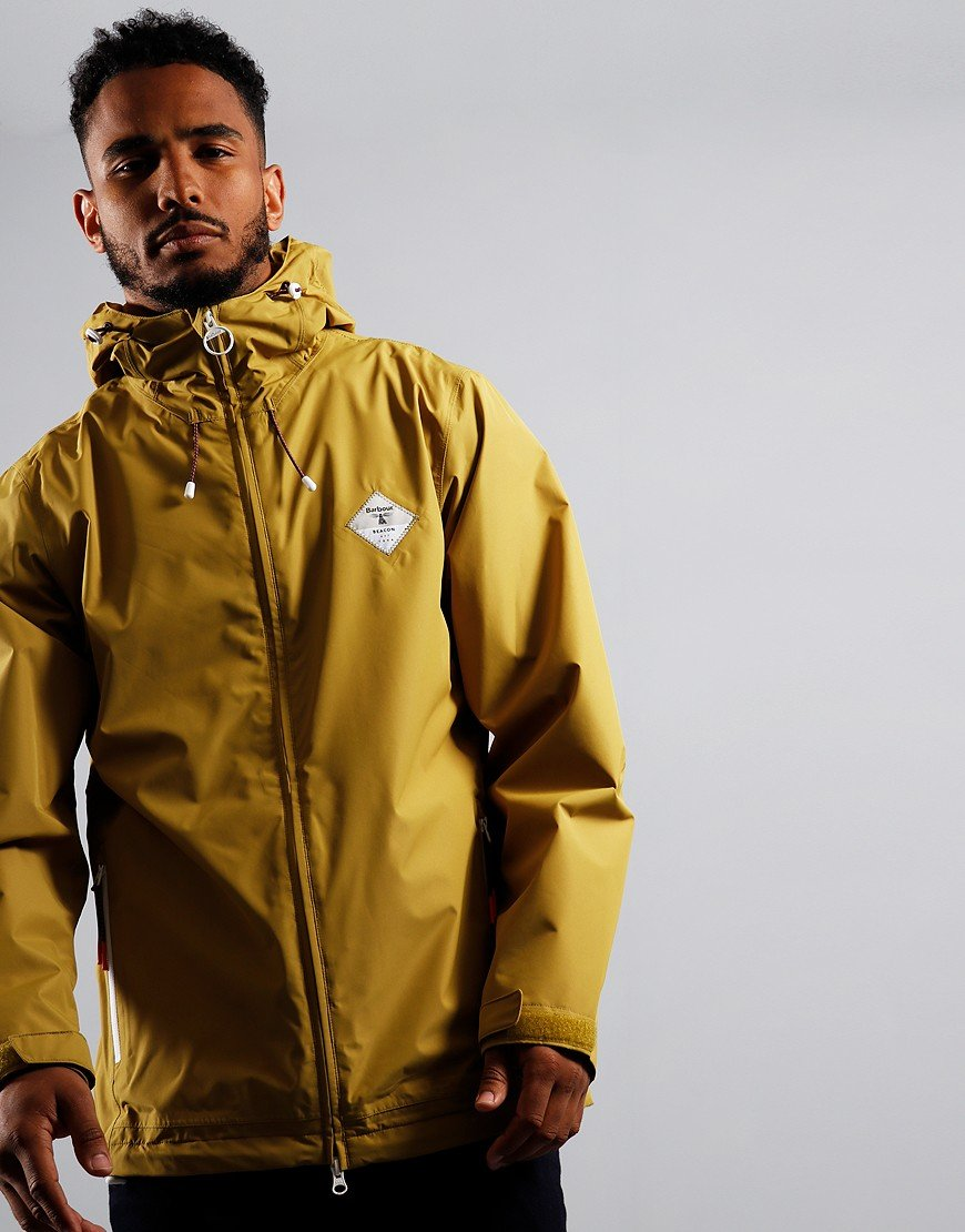 Barbour Beacon Mound Waterproof Jacket Amber Green