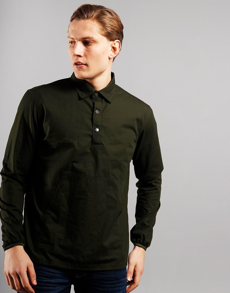 Barbour Beacon Ripstop Popover Shirt Green