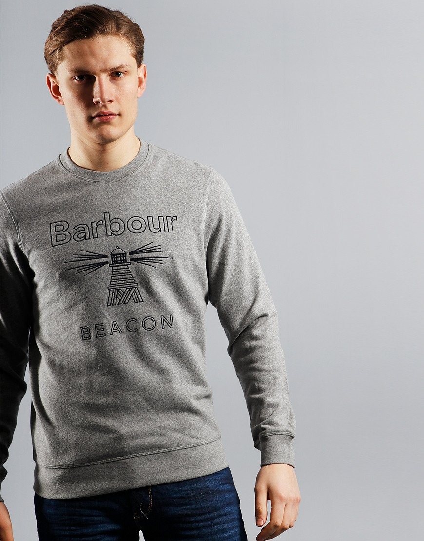 Barbour Beacon Stitch Crew Sweat New Grey Marl