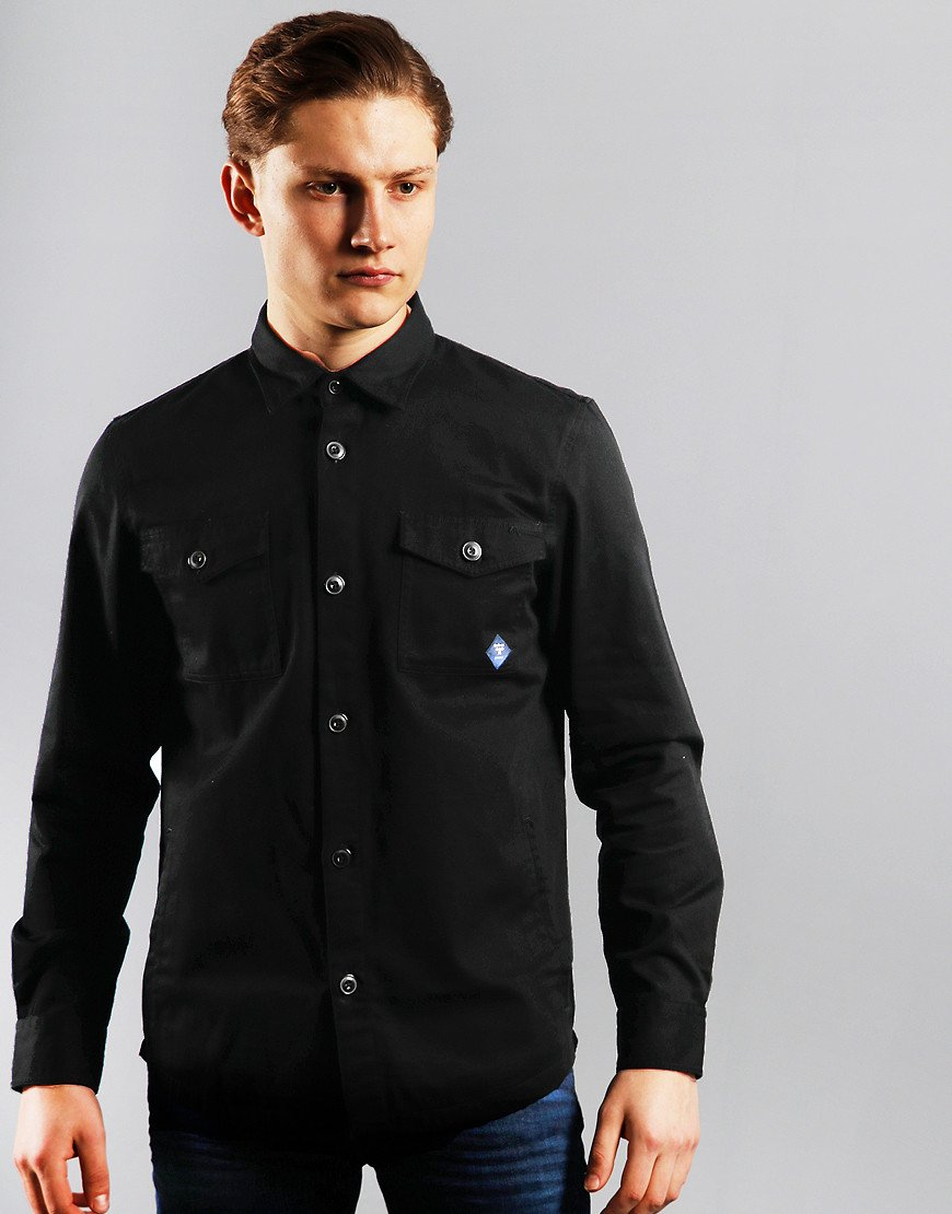 Barbour Beacon Twill Overshirt Black