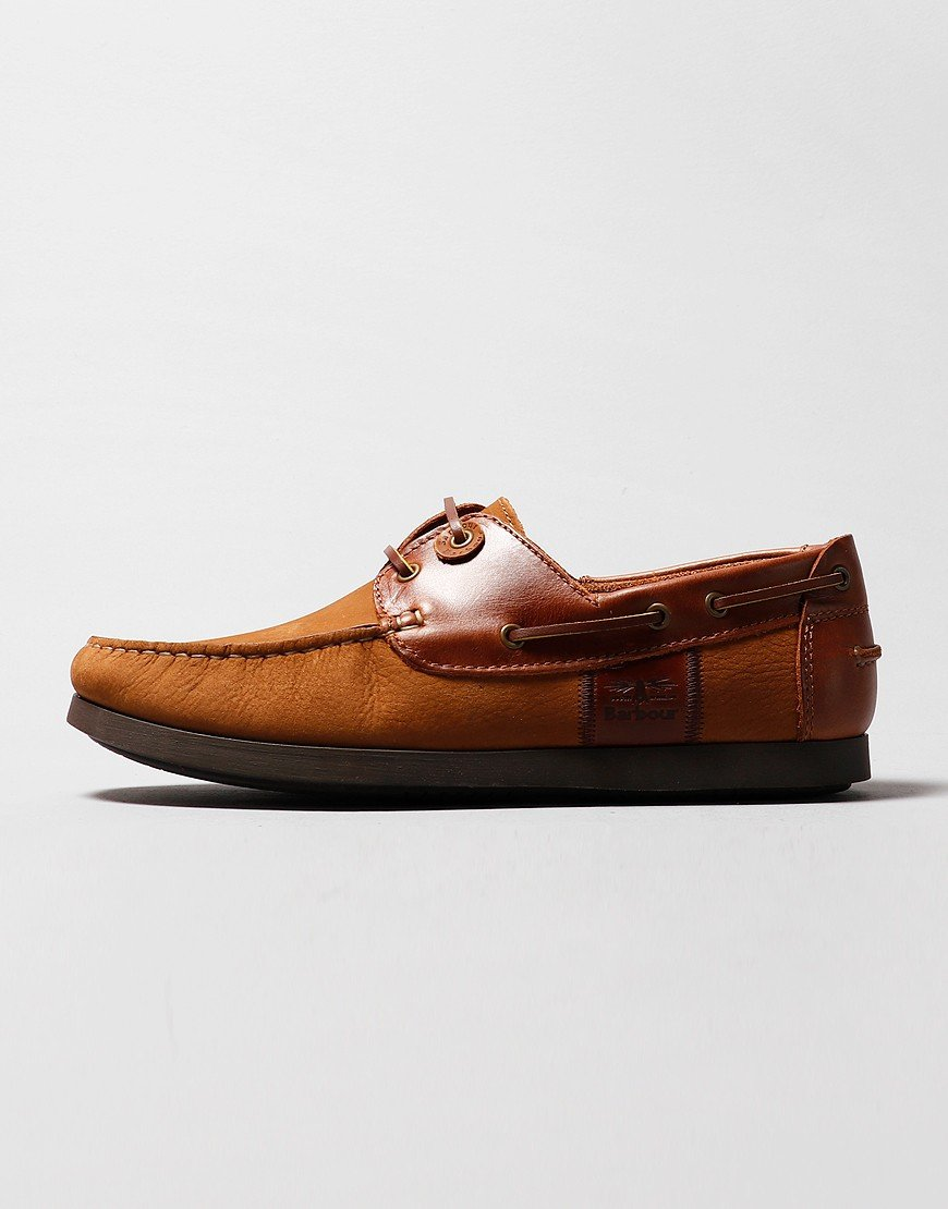 Barbour Capstan Boat Shoe Cognac Dark Brown