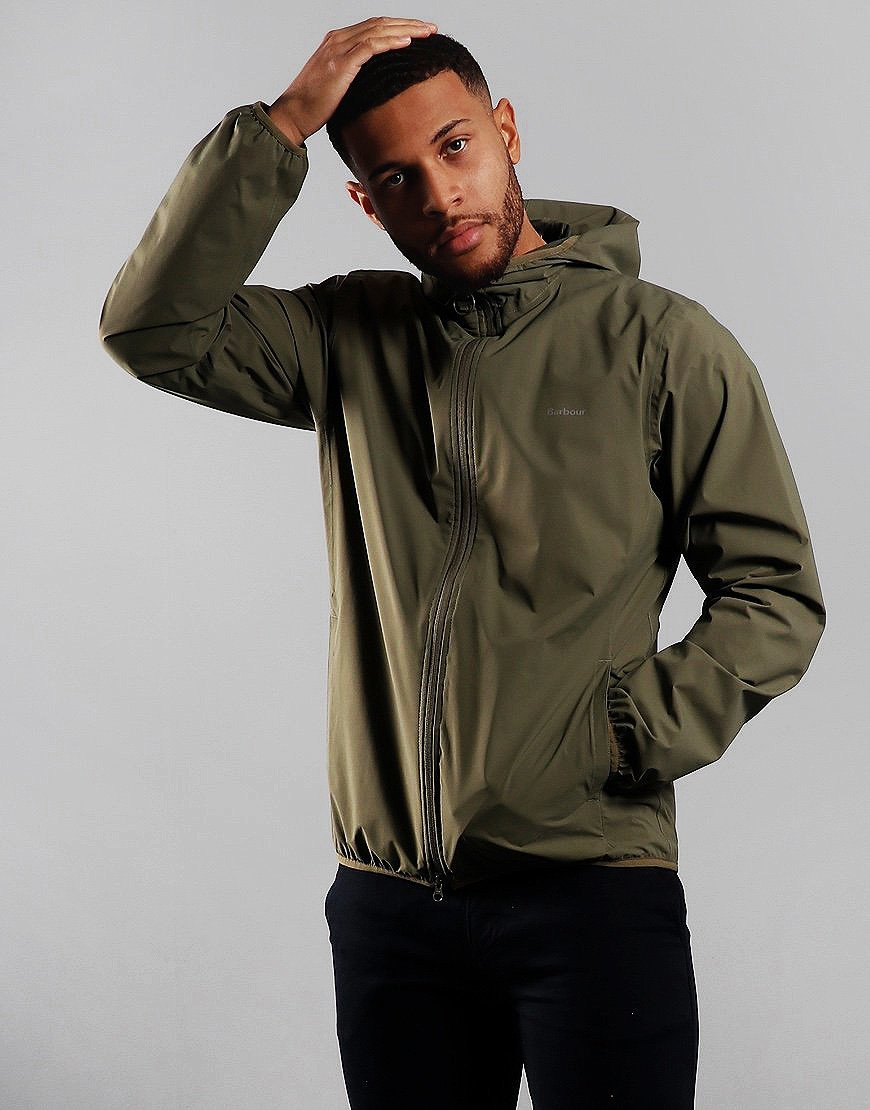Barbour Bransby Waterproof Jacket Dusty Olive