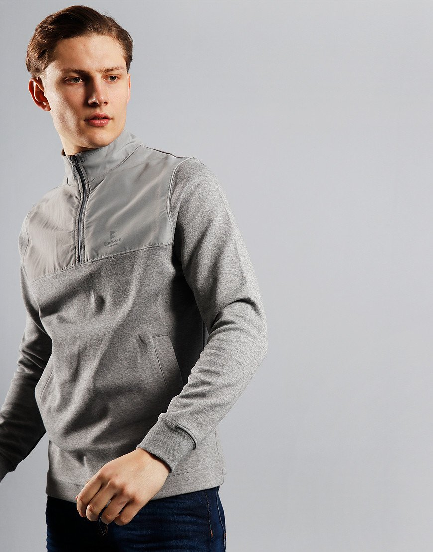 Barbour Cetus Half Zip Sweat Grey Marl