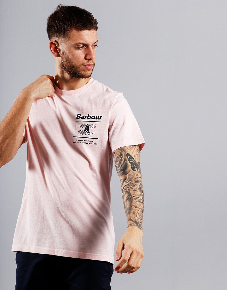 Barbour Chanonry Print T-Shirt Chalk Pink