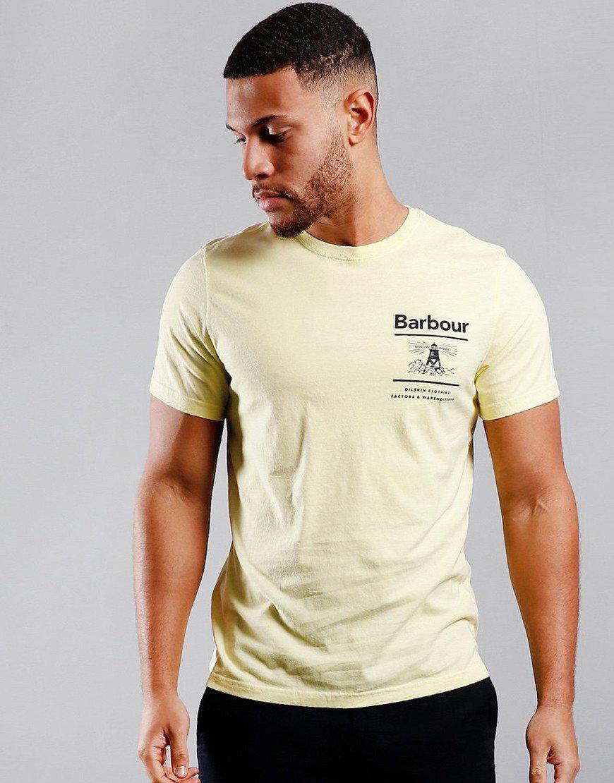 Barbour Chanonry Print T-Shirt Lemon